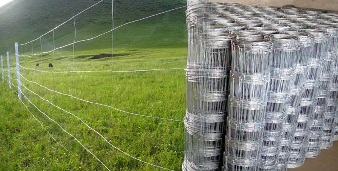 High Tensile Steel Woven Wire Mesh Field Fence