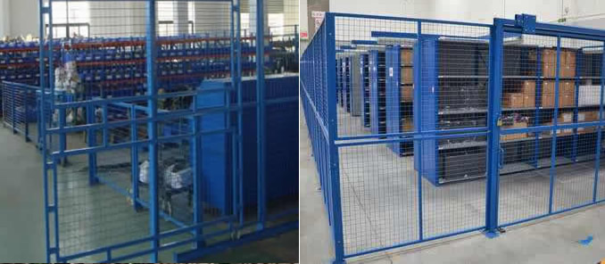 Powder Coated Welded Mesh Partition Panels